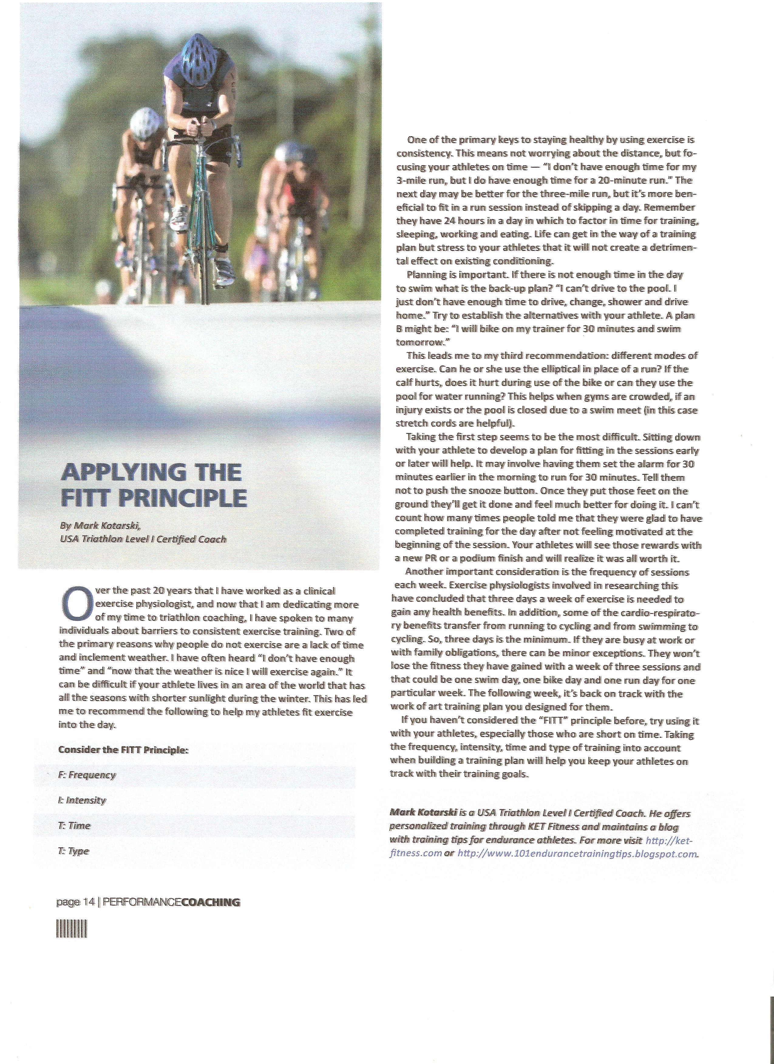Triathlon resume